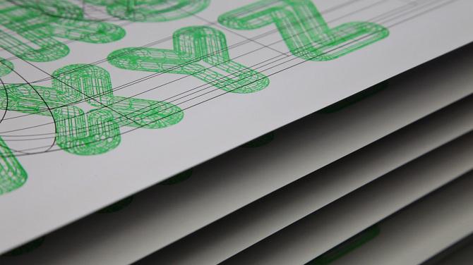 A23D 3D printed letterpress typeface