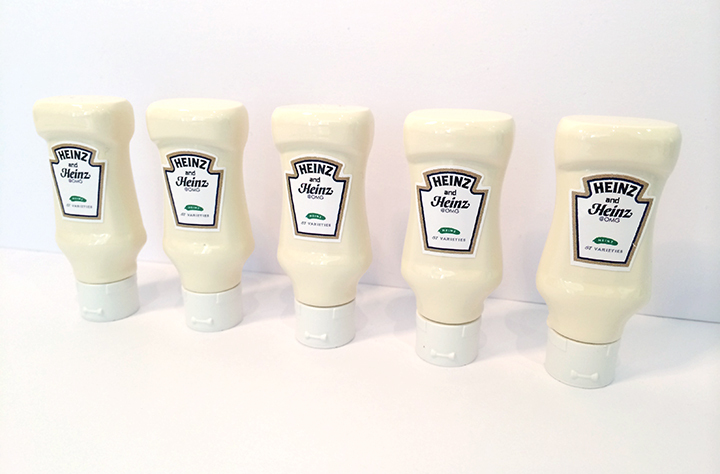 A picture of Heinz mayonnaise custom USB drives