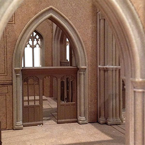 VHH architects Leicester Cathedral Interior model